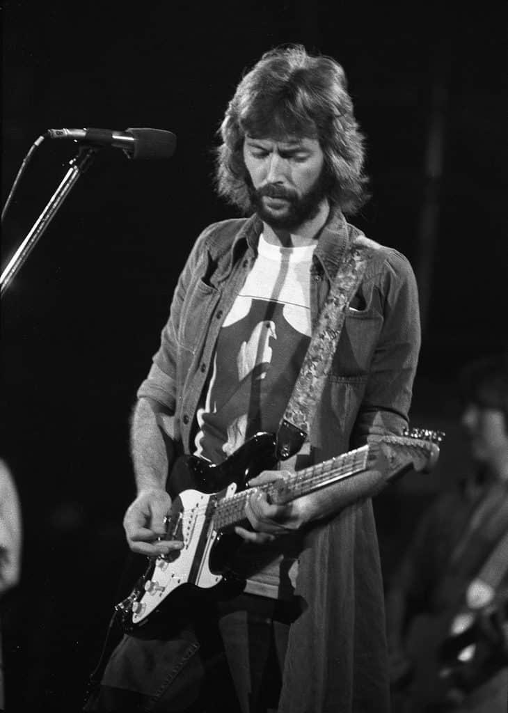 Eric Clapton - Swing Auditorium, San Bernardino, CA There's One In Every Crowd Tour Aug. 15, 1975. Photo by ultomatt/Flickr