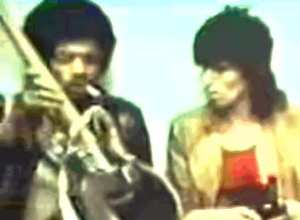 Here's an interesting photo; Keith Richards showing Jimi Hendrix the Dan Armstrong in 1969.