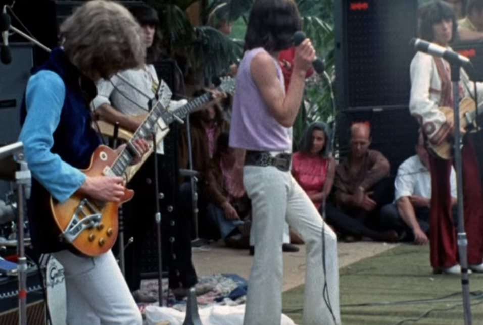 Mick Taylor with The Stones in the Hyde Park July 5 1969. Screencap YouTube