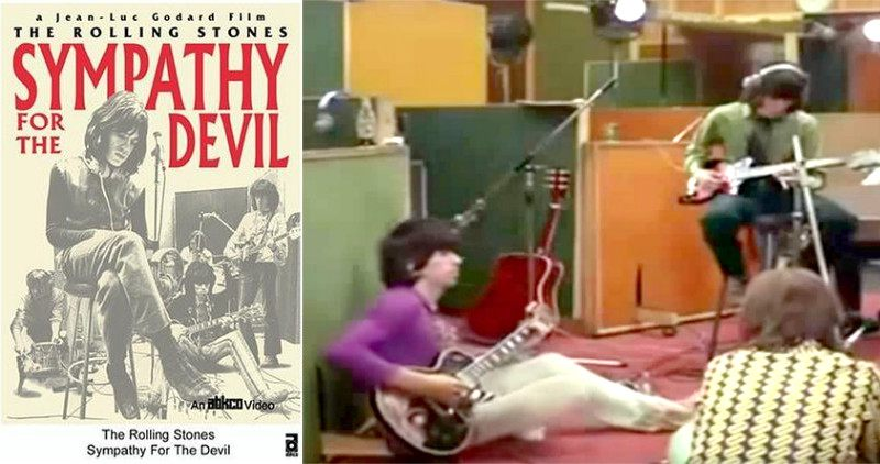 Sympathy for the Devil documentary shows Keith using the Les Paul Custom extensively (credit: Jean-Luc Godard)